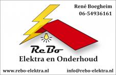 Business Card - ReBo Elektra en Onderhoud