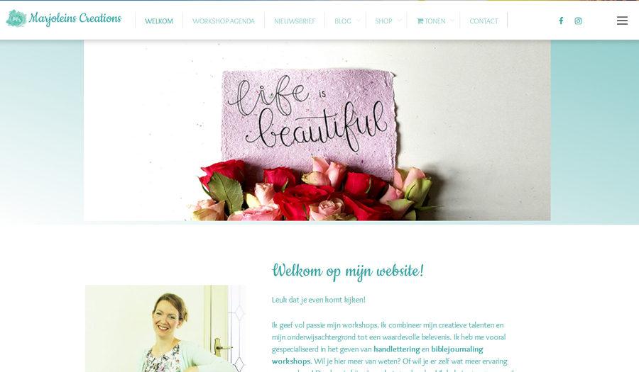 Homepage Marjoleins Creations