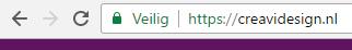Chrome zegt 'veilig'